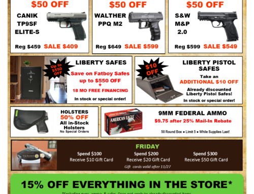 Black Friday Weekend Specials